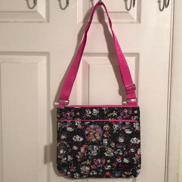 04c76359d399 NWT Tokidoki for Hello Kitty Messenger Bag